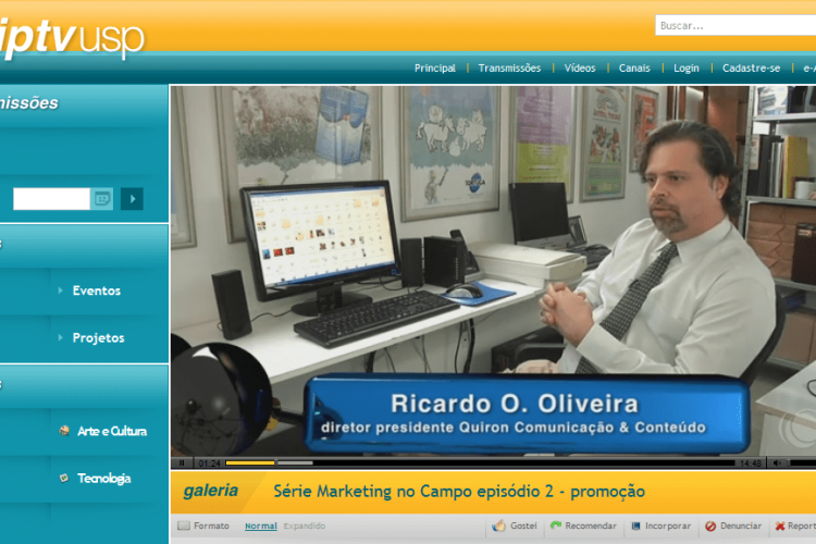 Marketing no Campo – Entrevista Ricardo O. de Oliveira (TV USP Piracicaba)